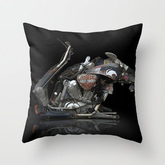 RAT BIKE Throw Pillow