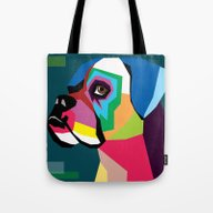 Tote Bag featuring Dog by Mark Ashkenazi