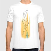 Geo - 2 Mens Fitted Tee White SMALL