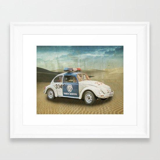 Dune Buggy Fuzz Framed Art Print