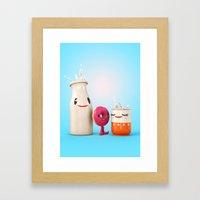 Happy Breakfast - Milk A… Framed Art Print