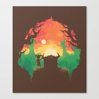 Sunset With A Friend Canvas Print