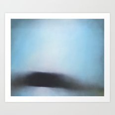 Stair Hole - Dorset blue abstract seascape painting Art Print