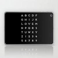 Letter Love - Black Laptop & iPad Skin