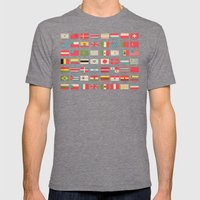 Vintage World Flags Mens Fitted Tee Tri-Grey SMALL