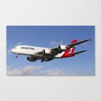 Qantas Airbus A380 Canvas Print