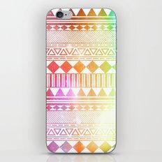 rainbow galaxy navajo tribal pattern iPhone & iPod Skin