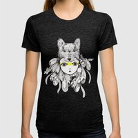 Be A Warrior Womens Fitted Tee Tri-Black SMALL