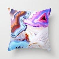 Agate, A Vivid Metamorph… Throw Pillow