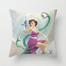Astro Babe Throw Pillow