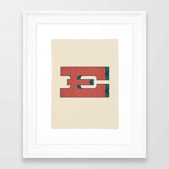 E 001 Framed Art Print