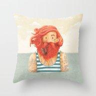 Throw Pillow featuring Octopus by Seaside Spirit