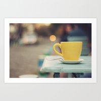 The Yellow Cup Art Print