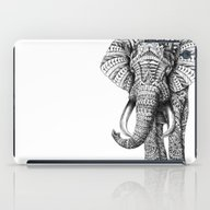 iPad Case featuring Ornate Elephant by BIOWORKZ