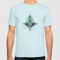 The Feathered Tribe Abstract / I Mens Fitted Tee Light Blue SMALL