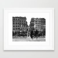 Framed Art Print featuring A Nice Day to be a Tourist by Amy Taylor