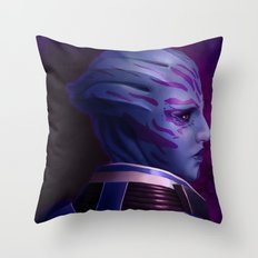 Mass Effect: Tela Vasir Throw Pillow