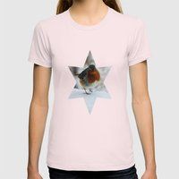 Robin Redbreast Womens Fitted Tee Light Pink SMALL