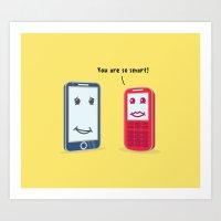 Smartphone evolution Art Print