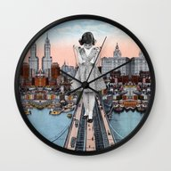 Wall Clock featuring Stress Test by Eugenia Loli