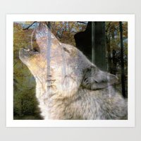 Howling Wolf Art Print