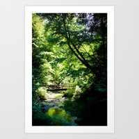 River Run Hike Art Print