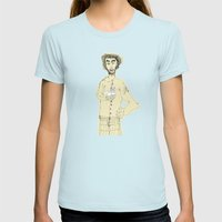 Gato Y Picazón Womens Fitted Tee Light Blue SMALL