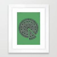 Slice of sewer life Framed Art Print