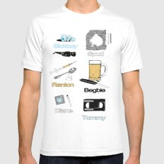 Trainspotting vector Mens Fitted Tee SMALL White