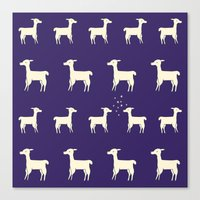 Lamas in Love Canvas Print