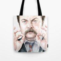 Swanson Mustache Tote Bag