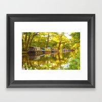 Wey Navigation Canal Framed Art Print