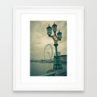 View of the London Eye Framed Art Print