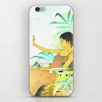 Woman Painting A Manicur… iPhone & iPod Skin