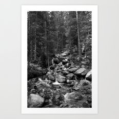 Mountain Creeks Art Print