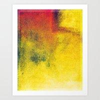 yellow, red, a bit of green Art Print