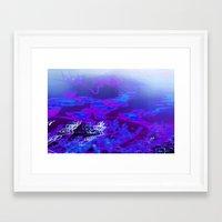Blurple Framed Art Print