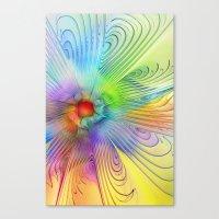 Rainbow Sun Canvas Print