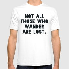 Wander Map Mens Fitted Tee SMALL White