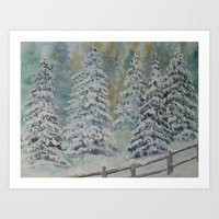 Winter Pines Art Print