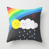 the truth about rainbows Throw Pillow
