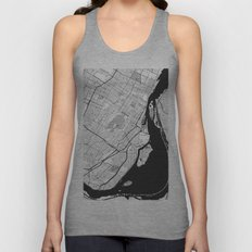 Montreal Map Gray Unisex Tank Top