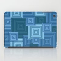 Blue Platformer iPad Case