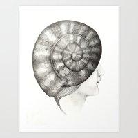 Caracola Art Print