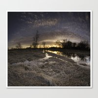 Sun Down At The Swamp Canvas Print