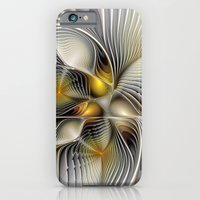 iPhone Cases featuring Tunnel Vision, Abstract Fractal Art by gabiw Art