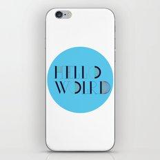 Hello World | Comp Sci Series iPhone & iPod Skin