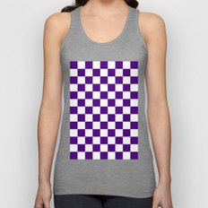 Checker (Indigo/White) Unisex Tank Top