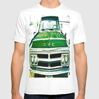 Green GMC Mens Fitted Tee White SMALL