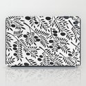 Black Olive Branches iPad Case